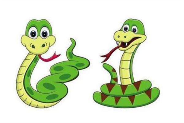 Traumdeutung und Wahrsagerei einer Gruppe vorbeikommender Schlangen